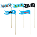 Pirate Flag Cocktail Picks, Cupcake & Cake Topper Picks, Halloween's Party Favor, 25Pcs/Pack