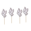 Peace Dove Cocktail Picks, Cupcake & Cake Topper Picks, Party Favor, 10Pcs/Pack