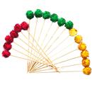 Color Ball Cocktail Umbrella, Parasol Cocktail Picks, 18Pcs/Pack, Assorted Colors