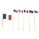 International Flag Plastic Swizzle Sticks, Cocktail Coffee Stirrers, 8