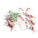 Christmas Cupcake Topper Toothpicks, Cocktail Picks, Party Supplies, 20Pcs/Pack