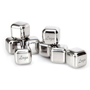 Custom Stainless Steel Ice Cubes, Pack of 6, Laser engraved