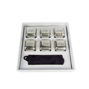 Custom Stainless Steel Whiskey Stones, 6-piece with Storage Bag, Laser engraved