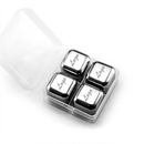 Custom 18/8 Stainless Steel Ice Cubes, Set of 4, 1