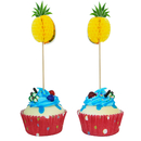 Pineapple Shape Cupcake Topper Toothpicks, Cocktail Picks, Fruit Picks, 10PCS/Pack