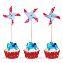Dot Pinwheel Cocktail Picks, Cupcake Toppers, 10Pcs/Pack, 5
