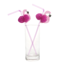 Flamingo Cocktail Drinking Straws, 9-1/2
