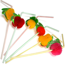 Colorful Fruit Cocktail Paper Straws, 9-1/2