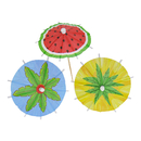 Summer Watermelon Umbrella Cupcake Topper Toothpicks, Cocktail Picks, Party Supplies, 20Pcs/Pack