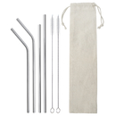 Blank Stainless Steel Straws for 12oz 20oz 30oz Tumbler Wine Glass Cups Mug with Cleaning Brush and Reusable Pouch