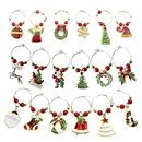 Blank Christmas Themed Wine Glass Charms, Wine Glass Markers, Drink Tags for Party Favors and Family Gathering
