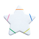 Blank Multi Color Star Highlighter, 4 1/2