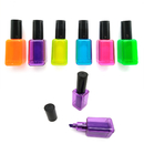 Blank Nail Polish Bottles Shape Highlighter Pen