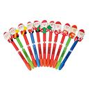 Custom Christmas Santa Claus Ballpoint Pen without Leaf Ornament, 6.5