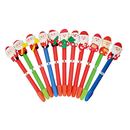 Blank Christmas Santa Claus Ballpoint Pen without Leaf Ornament, 6.5