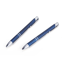 Blank Retractable Ballpoint Pens with Metallic Finish - Long Leadtime