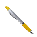 Blank Ballpoint Pen & Highlighter with Color Rubber Grip