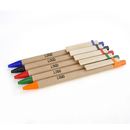 Custom Recycled Paper Pen with Wooden Grip - Long Leadtime