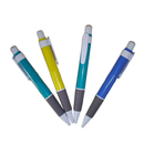 Blank Plastic Click Pen with White Grip