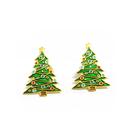 Shiny Christmas Tree Lapel Pin, 1