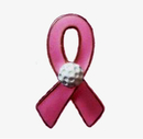 Custom Pink Awareness Pin with Golf Ball, 1