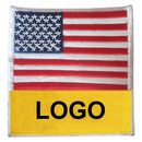 Custom American Flag Iron On Embroidered Emblems Patch, 3.5