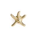 ALICE 3D Cast Golden Starfish Lapel Pin, 25PCS/Pack, 3/4