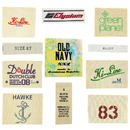 Custom Sew-in Cotton Clothing Labels, Screen Printed, Up to 3