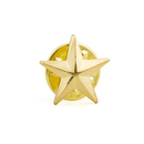 Stock 3D Metallic Finish Star Lapel Pin, 25PCS/Pack, 1/2