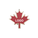 Custom Red Maple Leaf Pin, 1-1/4