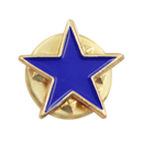 (Price/25 PCS)ALICE Color Filled Stars Lapel Pin, 1/2