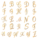 Opromo Fashion Unisex Rhinestone English Letters Alphabet A-Z Brooch Pin Ornament