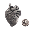 (Price/25 PCS) Opromo Anatomical Heart Lapel Pin , 1