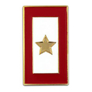 (Price/25 PCS) ALICE Military - Gold Star Service Flag Pin  Enamel Lapel Pin, 1