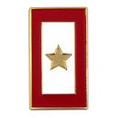 (Price/25 PCS) ALICE Military - Gold Star Service Flag Pin  Enamel Lapel Pin, 1