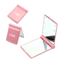 Custom Portable 8 LEDs Makeup Mirror, Two-sided Folding Mirror, 4-1/3