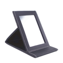 Blank PU Leather Portable Folding Travel Mirror, Vanity Mirror, 6-7/10