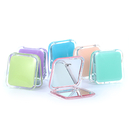 Blank Double-sided Travel Cosmetic Mirror with 1x/2x Magnification, 3-1/3