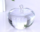 Customized Apple Crystal Paperweight, 3.15
