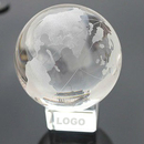 Customized Crystal Globe Paperweight, 2.4