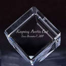 Customized Cube Crystal Paperweight, 2.4