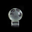 Custom Soccer Ball Crystal Sports Award with Small Base, Mini Football Paperweight