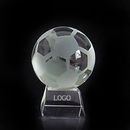 Custom Soccer Ball Crystal Sports Award with Medium Base, Football Paperweight