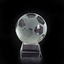 Blank Soccer Ball Crystal Sports Award with Medium Base, Football Paperweight