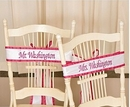 Personalized  Satin Wedding Chair Sash