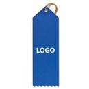 Custom Point Top Ribbon Name Tags, 1 5/8