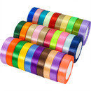 Opromo 100 Yard Satin Ribbon, Silky Ribbon Rolls for Gifts Wrapping Holiday Festival Wedding Party Decoration Ribbons