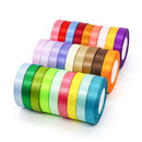 Opromo 24 Yard Double Face Solid Satin Ribbon,Silky Ribbons for Gift Wrapping Wedding Party Holiday Decoration,3/8