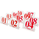 Blank Acrylic Table Numbers for Restaurant, Number Sign