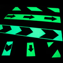 Blank Glow in the Dark Safety Tape, Luminescent Emergency Safety V-style Arrow Diagonal Stripes Exit Sign, Luminous Tape Sticker